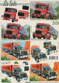 Afbeeldingsresultaat voor 3d knipvellen vrachtwagens