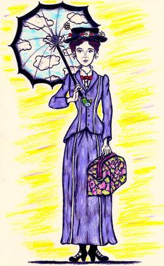 MARY POPPINS  Movie Character Print  Art For by LittleEnithandSons