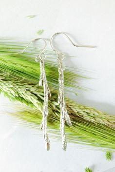 Willow budded branch earrings cast directly from the living plant. Nature at its best frozen in time to last forever. Plant Hanger, Bud, Summer Time, Frozen, It Cast, Jewelry Making, Jewellery, Earrings, Nature