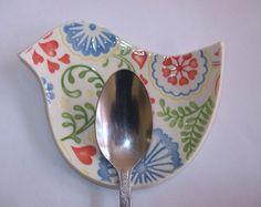 Porcelain spoon rest...