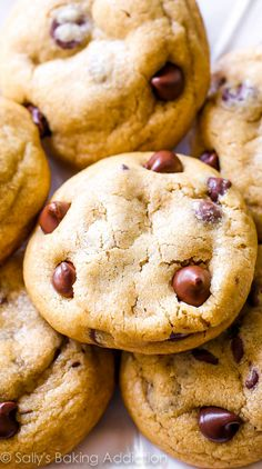 Sally's Baking Addiction Brown Butter Chocolate Chip Cookies--- one of the BEST cookies to come out of my kitchen.