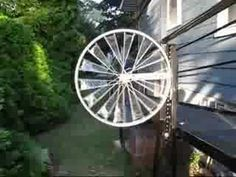 Make your own windmill with bike rims.