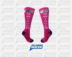 Socks designed by My Custom Socks for Lola Gams in Naples, FL. High knee socks made with Coolmax fabric. #Crossfit custom socks - free quote! ////// Calcetas diseñadas por My Custom Socks para Lola Gams en Naples, FL. Calcetas de altura a la rodilla hechas con tela Coolmax. #Crossfit calcetas personalizadas - cotización gratis! www.mycustomsocks.com