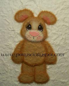 Standing Bunny Tear Bear Paper Piecing Embellishment. #bunny #paper