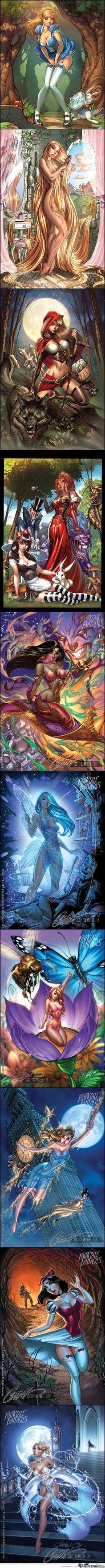 Disney fairy tales by J Scott Campbell, Grim Fairytales Series