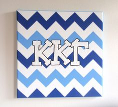 hand painted Kappa Kappa Gamma letters outline by PreppyInPinkUSA, $22.00