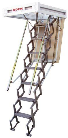 Escada de Sótão - Escada recolhível de abertura eléctrica (Interior)