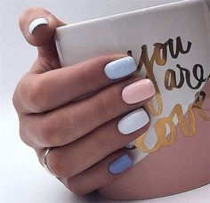 pretty nails for spring / pretty nails ; pretty nails for summer ; pretty nails for winter ; pretty nails for spring Nagellack Design, Nagellack Trends, Summer Acrylic Nails, Cute Acrylic Nails, Cute Shellac Nails, Short Nail Manicure, Shellac Nail Colors, Pastel Nail Art, Shellac Manicure