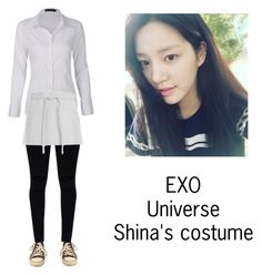 """Shina's costume for Universe"" by pantsulord on Polyvore featuring Converse"