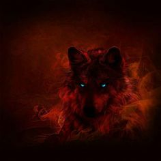 The wolf of the flames. Wolf Spirit, Spirit Animal, The Crow, Wolf Illustration, Wolf Artwork, Fantasy Wolf, Vampires And Werewolves, Wolf Wallpaper, Wolf Love