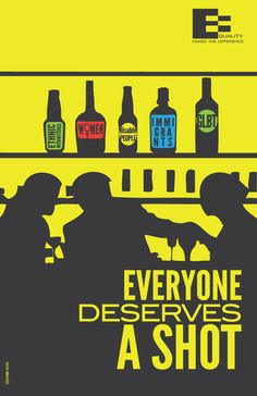 Everyone deserves a drink. #equality #lgbti