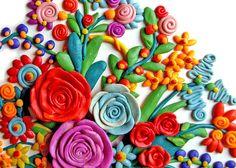 pâte à modeler - Цветы пластилин
