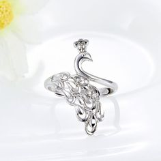 【Jewelry in My Box】Exquisite 925 Sterling Silver Peacock Women Ring