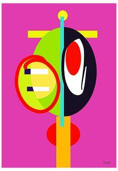 Paddy Whack by Sam Freek - Contemporary art prints for the modern home - #art #artprint #abstractart #portrait