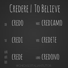Learning Italian Language ~ credere | to believe