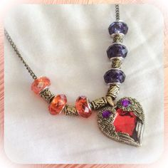 Baltimore ORIOLES and Baltimore RAVENS Jewelry inspired COMBO Becklace