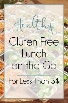 Is making a healthy, cheap gluten free lunch ON THE ROAD an impossibility that's cramping your life? We solved this problem for 35$ and saved THOUSANDS since.