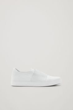 ca58820bc74b COS image 1 of Wrap-over leather sneakers in White Cos Shoes