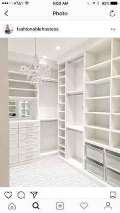 45 Brilliant Closet Organization Ideas - Page 2 of 45 - VimDecor closet designs; Master Closet Design, Walk In Closet Design, Master Bedroom Closet, Closet Designs, White Bedroom, Master Closet Layout, Bedroom Wall, Diy Bedroom, Bedroom Closets