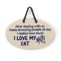 I Love My Cat Plaque