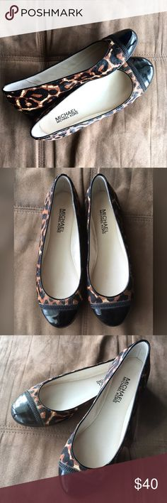 Michael Kors Calf Hair Leopard Print Flats These flats are fall ready, and so comfy!  They are calf hair and in great condition. Very little wear on soles and no wear on exterior. They can be dressed up or down, and are true Michael Kors quality. Michael Kors Shoes Flats & Loafers