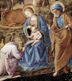 The Adoration of the Magi (detail) by ANGELICO, Fra #art