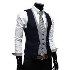 TheLees Mens premium layered style slim vest waist coat Navy Medium(US Small)  TheLees , http://www.amazon.com/dp/B005D3YPIC/ref=cm_sw_r_pi_dp_OQaEpb10BP14P