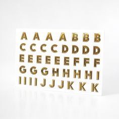 Just Your Type Gold Foil Stickers. Just Your Type is an innovative way of personalising your possessions with gold foil sticker letters, making them look cool in one fell swoop! Inside the stylish looking sticker album you'll find over 600 characters perfect for naming your folder, laptop, phone or anything else you want to put your stamp on. Just Your Type also boasts 5 variations of fonts and over 100 funky images and icons. $17.95