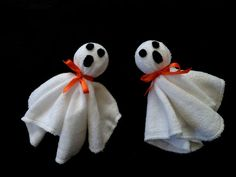 Halloween Washcloth Ghosts - Diaper Cake, Baby Shower, Fall, Autumn, Halloween Decoration, Spooky on Etsy, $3.99