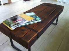 Etsy is no longer just for the jewelry creators of the world. Etsy is a place for serious one of a kind furniture and furnishings design entity; with products so skillfully crafted theres sure to be conversation pieces in your #HomeDecor Get noticed--get an Etsy #design Rustic barnwood coffee table/bench industrial pipe legs