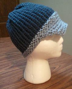 Loom knit Newsboy Cap
