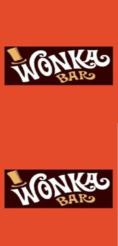 Free Printable Wonka Bar Wrappers