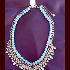 New Ann Taylor Loft Necklace Adorn your neckline with this eclectic inspired crystal and beaded necklace from The Loft. Ann Taylor Accessories