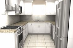 #Chicago #kitchen #remodeling Rendering Using 20/20 Software