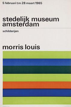 Poster by Willem H. Crouwel - stedelijk museum amsterdam morris louis