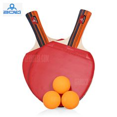 BOLI A09 2pcs / Set Table Tennis Ping Pong Racket with Ball #Shoproads #onlineshopping #Other Sports & Accessories