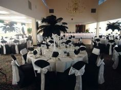 Table set-up minus the feather centerpiece