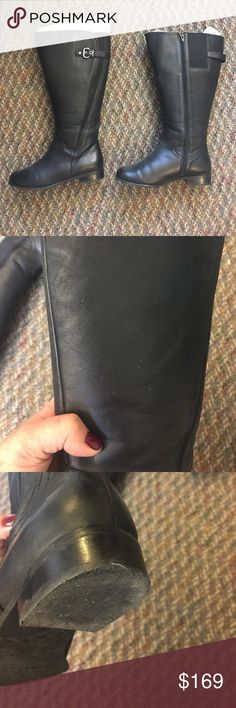 Rose Petals Trudy-2 Super Queen Wide Calf Boot Black leather wide calf boot. Size 7.5. Circumference is 21 7/8 inches and height is 15 inches. Used for one season. Heels are slightly scuffed from use and shafts are slightly dirty but undamaged. Still has original stuffing so boots haven't lost shape at all. Rose Petals by Walking Cradles Shoes Winter & Rain Boots