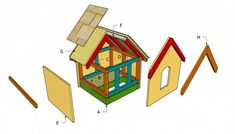 Shed plans outside dog Outdoor Cat House Plans DIY Dog House Pl. Small Dog House, Build A Dog House, Small Dogs, Dog Kennel Outside, Outside Dogs, Cat House Plans, Shed Plans, Garage Plans, Cabin Plans