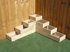 Garten X Large 4 Tiered Corner Garden Level Steps Wooden Decking Patio Planter Trough How To Build W