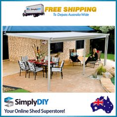 Perfect Find Absco Sheds X X Awning Patio Cover   Zincalume At Bunnings Warehouse.  Visit Your Local Store For The Widest Range Of Garden Products.