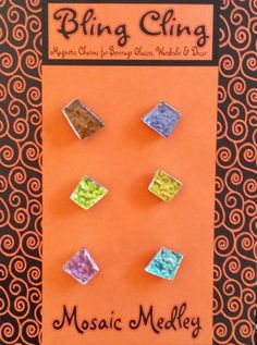 BLING CLING Mosaic Medley Magnetic Charms by LiCocoDesigns on Etsy