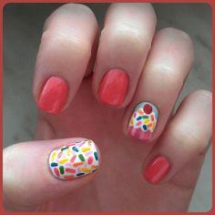 New level of cuteness! :P ( #cupcakenails #cupcakes #nails #nailart #cutenails )