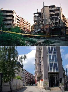 Pictures of Sarajevo 15 years ago and today show how the city has changed - Telegraph