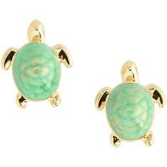 Ted Baker Turtle Stud Earrings ($44) ❤ liked on Polyvore
