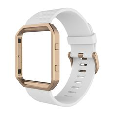 Simpeak Silicone Replacement Band with Rose Gold Frame for Fitbit Blaze, Large,  #Simpeak