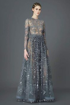 Valentino Embellished Tulle Gown...