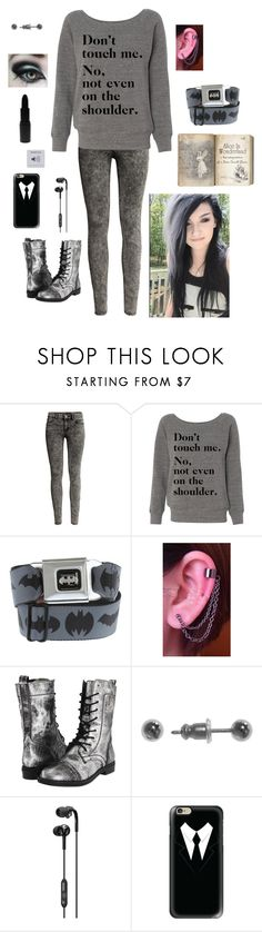 """Untitled #412"" by aj-the-creepypasta ❤ liked on Polyvore featuring H&M, Hot Topic, Steve Madden, Napier, Skullcandy, Casetify and MAKE UP STORE"