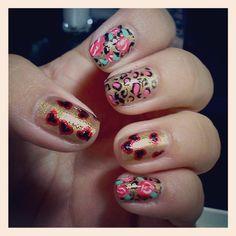 Betsey Johnson inspired nail art