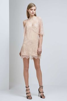 ABOVE WATER LACE DRESS rose